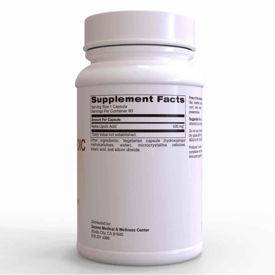 Alpha-Lipoic Acid 90 Vegetarian Capsules