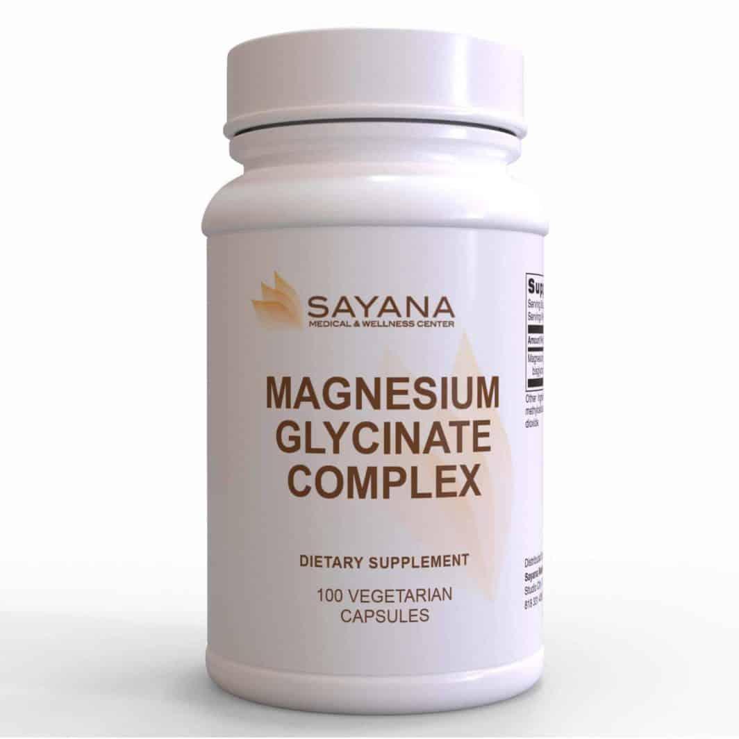 Magnesium Glycinate Complex 100 Vegetarian Capsules